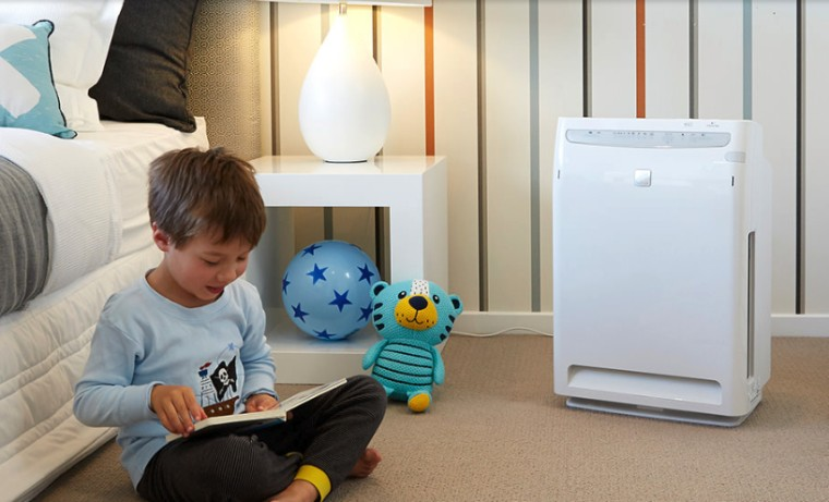 Daikin Purifiers - baby products | bed | baby products, bed, child, floor, flooring, furniture, play, product, room, technology, toddler, toy, gray, white