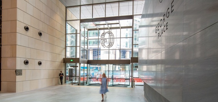George Place 01 - architecture | building | architecture, building, daylighting, glass, interior design, lobby, gray