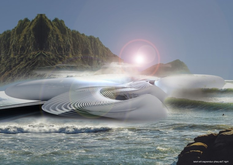 Harmonic Turbine Tidal Hotel coastal and oceanic landforms, horizon, ocean, sea, sky, water, wave, wind wave, gray