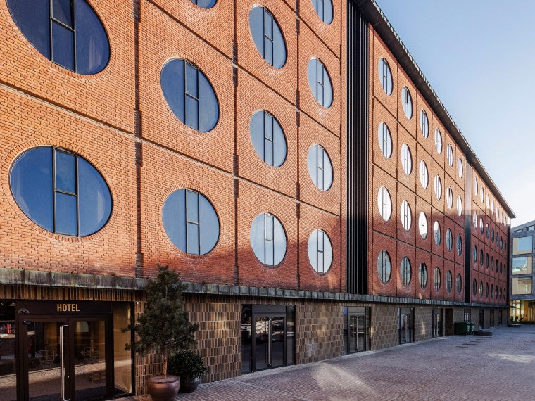Aspects of the Hotel Ottilia facade provided inspiration apartment, architecture, brick, building, city, commercial building, facade, house, mixed-use, neighbourhood, property, real estate, residential area, room, urban area