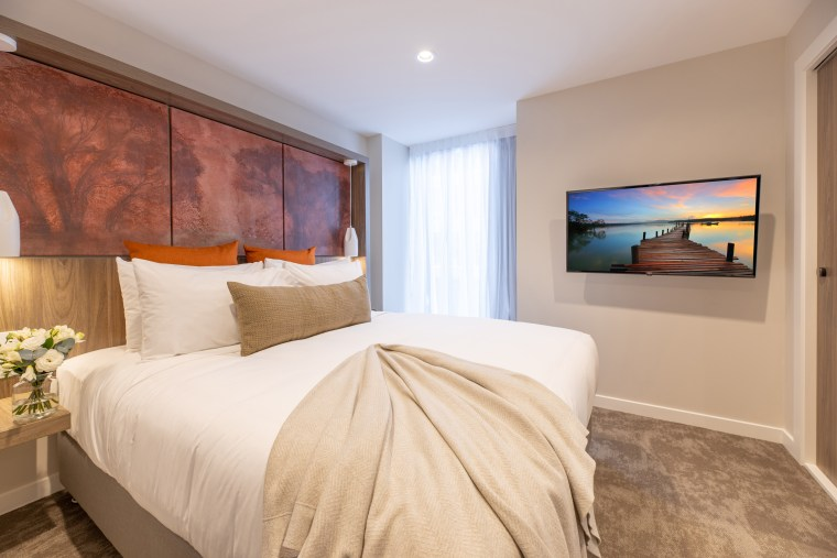Sudima Christchurch City features two Resene neutrals in Sudima Hotel, Resene paints, neutral, thorndon cream, spaceCote