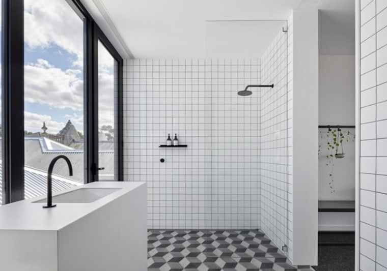 The 5 Key Things to Establish Before You architecture, bathroom, black-and-white, building, ceiling, door, floor, flooring, glass, house, interior design, plumbing fixture, property, real estate, room, tap, tile, wall, gray, white