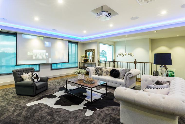 As well as a Bang & Olufsen entertainment interior design, living room, real estate, Chancellor Construction, Bang & Olufsen,