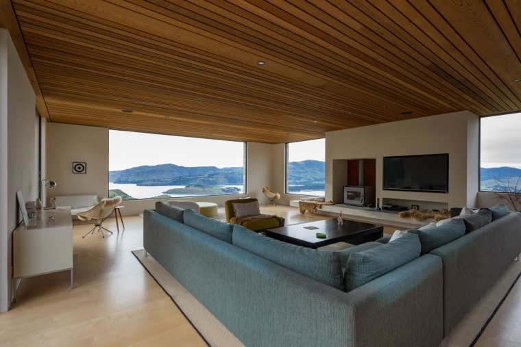 The big picture – the open-plan nature of architecture, ceiling, daylighting, estate, floor, house, interior design, living room, penthouse apartment, property, real estate, brown, wood ceiling, ceiling