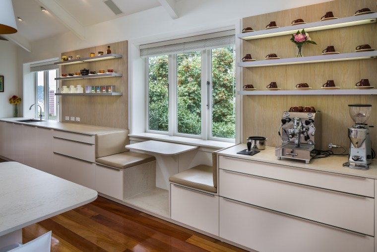 ​​​​​​​Good taste on display – the long wall cabinetry, furniture, interior design, shelving, kitchen design,  Damien Hannah