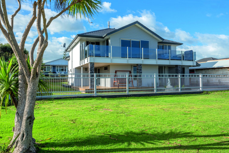 With the look of classic roof tiles, but house, home, facade, grass, land, property, residential, rural home, Fowler Homes Manawatu, Riverside, New Home builder