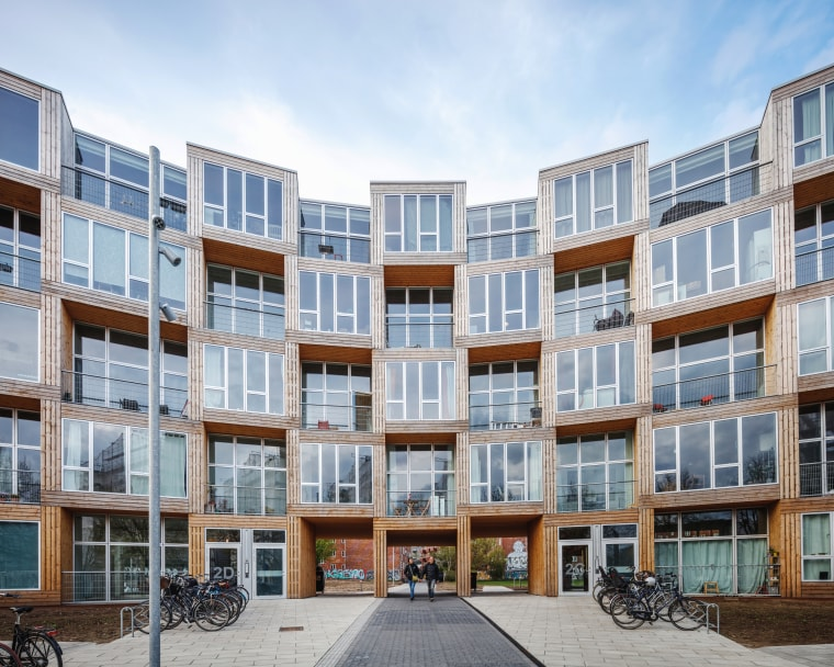 The 66 modular units at Dortheavej are arranged apartments, architecture, building, mixed condominium, homeneighbourhood, property, residential area, Bjarke Ingels Group