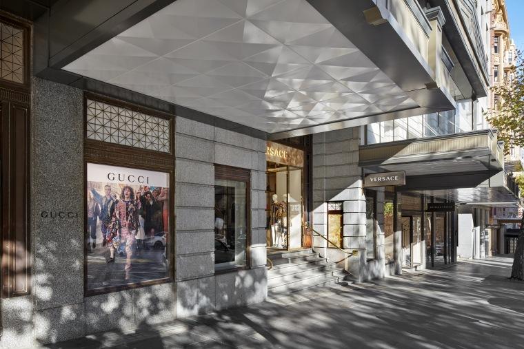 High-profile retail tenants in Melbourne's T&G Building make building, interior design, lobby, gray, black
