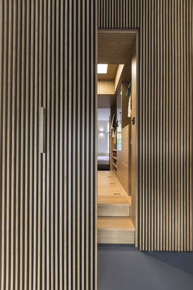 Designed by Inmaculada Cantero Tamayo of Cantero Architects, architecture, door, floor, hall, house, interior design, walk in closet, storage spaces, Cantero Architects, Apartment