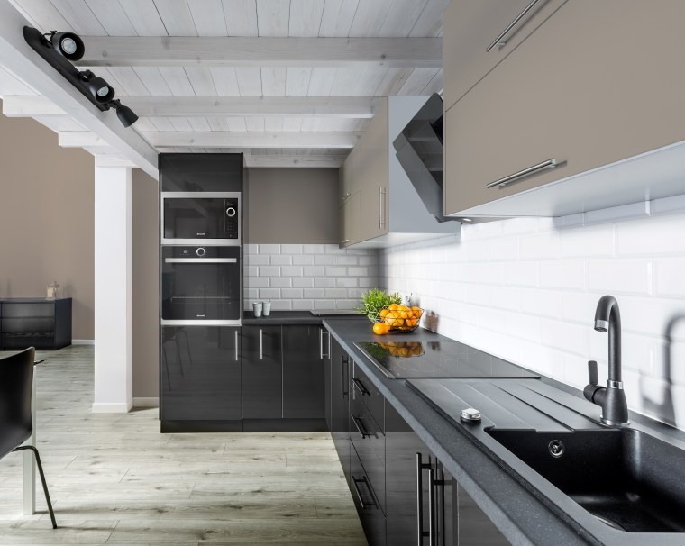 NZ3502 Trade Depot 298753620 1 1 - architecture architecture, building, cabinetry, ceiling, countertop, floor, flooring, furniture, home, house, interior design, kitchen, loft, material property, property, room, tile, gray