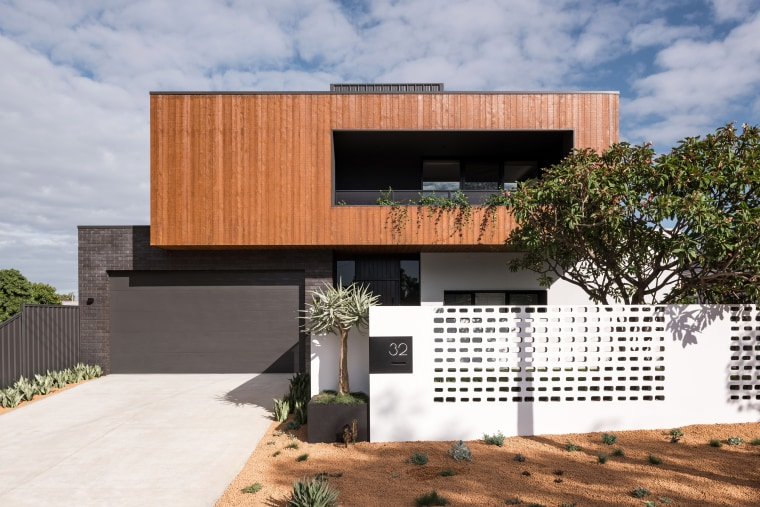 ​​​​​​​Timber cladding, dark brickwork and a painted steel , architecture, design, facade, home, house, residential, timber, Dalecki Design