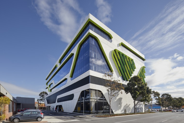 Standing seven-levels tall, the new VicRoads building is architecture, commercial building, facade, VicRoads building, exterior