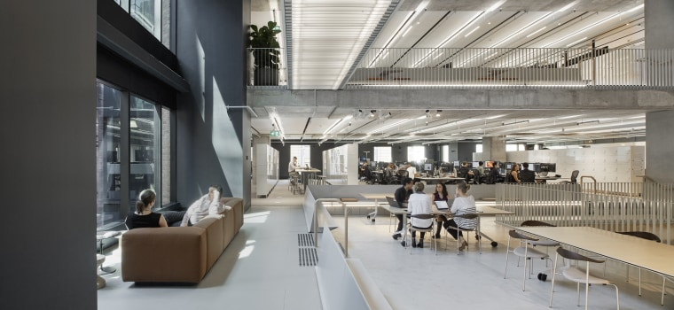 For the Arup fit-out, even the cross bridges architecture, building, design, Arup office, fitout, meeting spaces