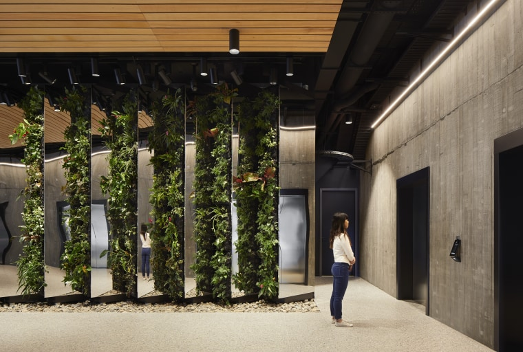 The building is projected to achieve a 6 architecture, house, tree, black