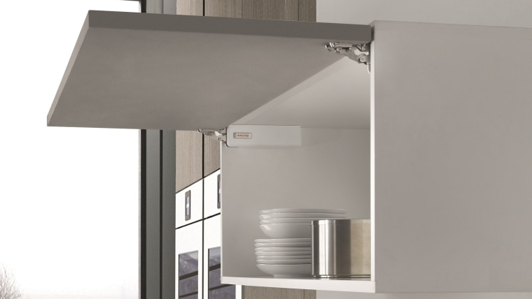 Salice's Wind is an elegant, unobtrusive overhead lift gray, white