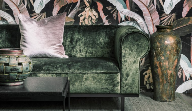 Velvet can be constructed from a variety of different chair, club chair, couch, furniture, green, interior design, living room, room, table, textile, wallpaper, black, gray