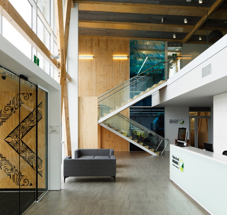 WINNER: Seafood Research Centre/ Seafood Research Centre, Plant architecture, daylighting, floor, glass, handrail, house, interior design, lobby, stairs, white