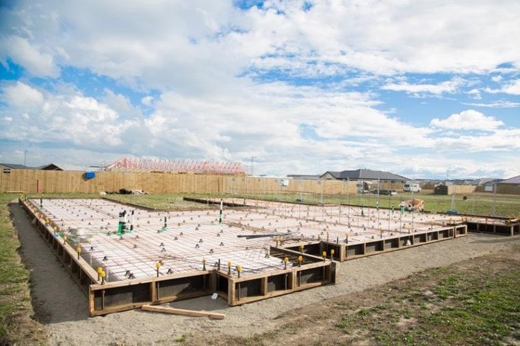 Ready Super Slab – Pour - architecture | architecture, house, land lot, roof, sky, sport venue, white