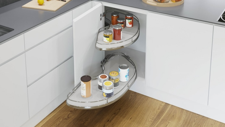 Cornerstone MAXX's hidden fixings provide an attractive 'floating' drawer, floor, furniture, product, room, shelf, shelving, table, white