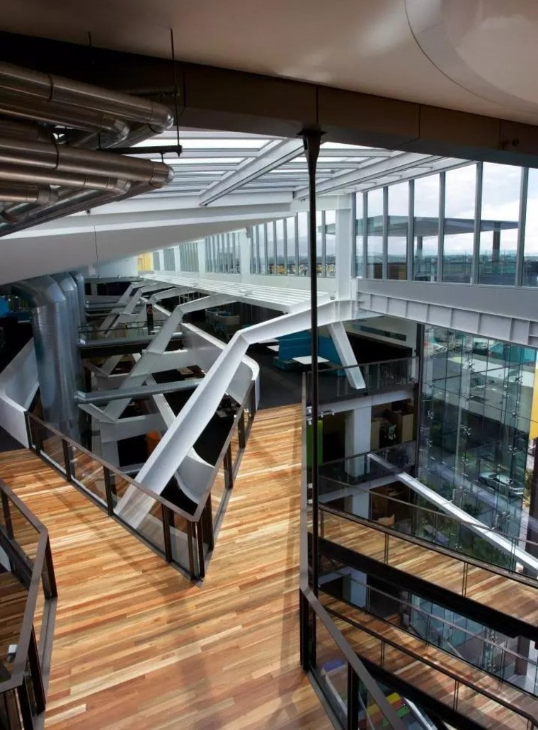 ASB North Wharf floor by Hardwood Technology architecture, building, daylighting, structure, black, gray