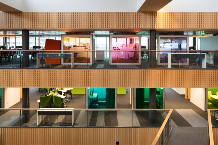 Open plan design architecture, condominium, interior design, lobby, real estate, brown