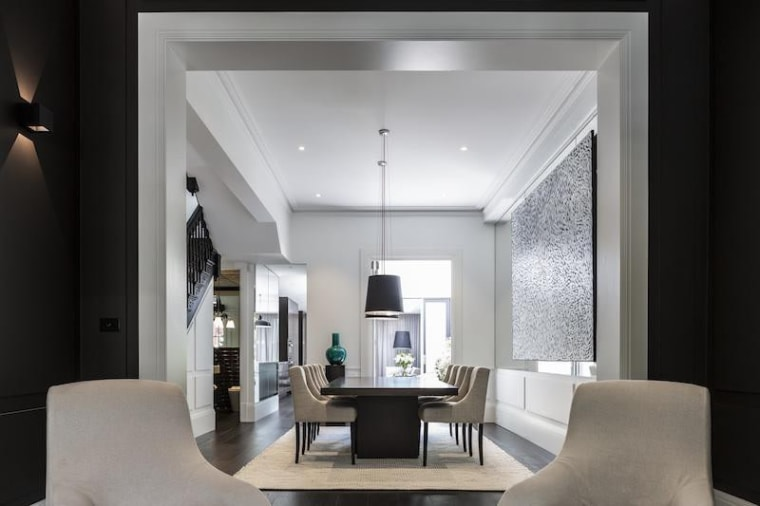 TIDA Australian Architect-Designed Renovation - Renovation Winner – ceiling, interior design, living room, gray, black
