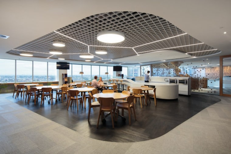 icare – dwp | design worldwide partnership ceiling, interior design, restaurant, gray