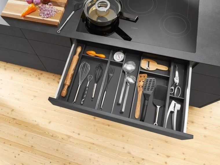 AMBIA-LINE from Blum furniture, product design, tool, orange, black
