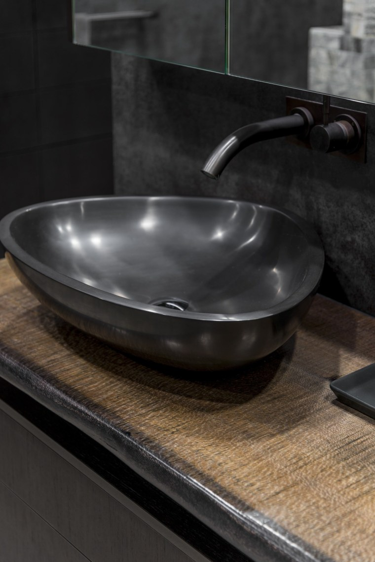Sublime Architectural Interiors bathroom sink, ceramic, cookware and bakeware, plumbing fixture, sink, black