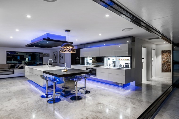 A focus on lighting – Kitchen by designer ceiling, interior design, gray