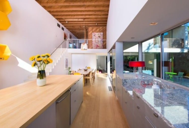 Tobey Maguire's new West Hollywood home countertop, house, interior design, loft, property, real estate, white