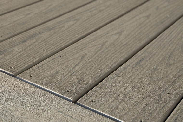 TimberTech decking direct fastening detail angle, floor, line, plank, plywood, texture, wood, wood stain, gray