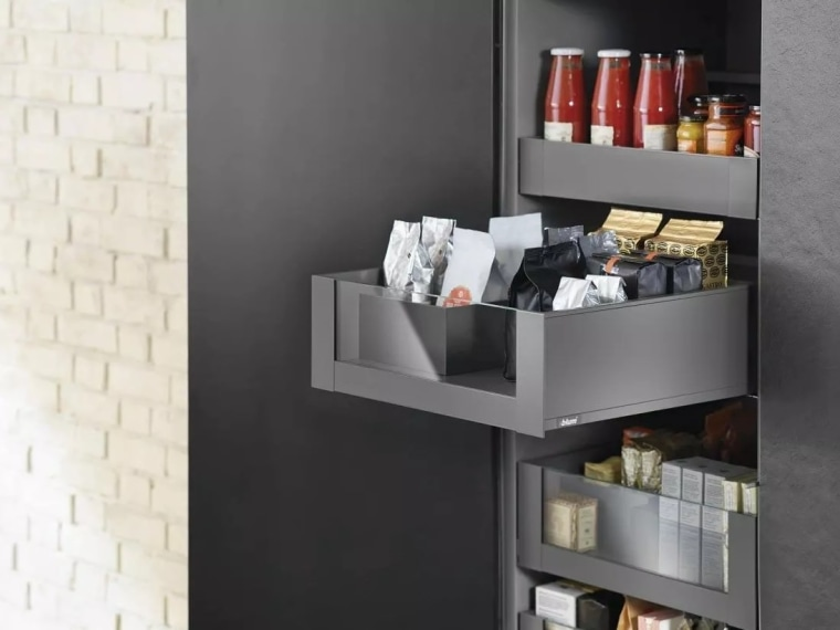 Learn more about Space Tower on the furniture, product, product design, shelf, shelving, black, gray, white