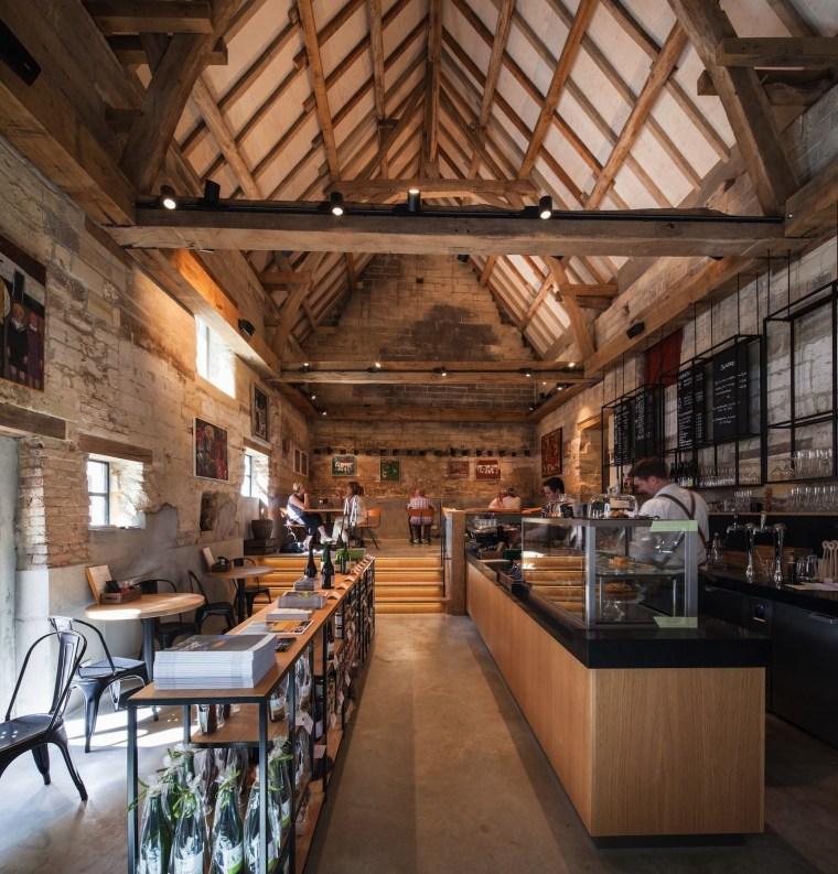 Architect: Meccanoo beam, ceiling, interior design, wood, brown