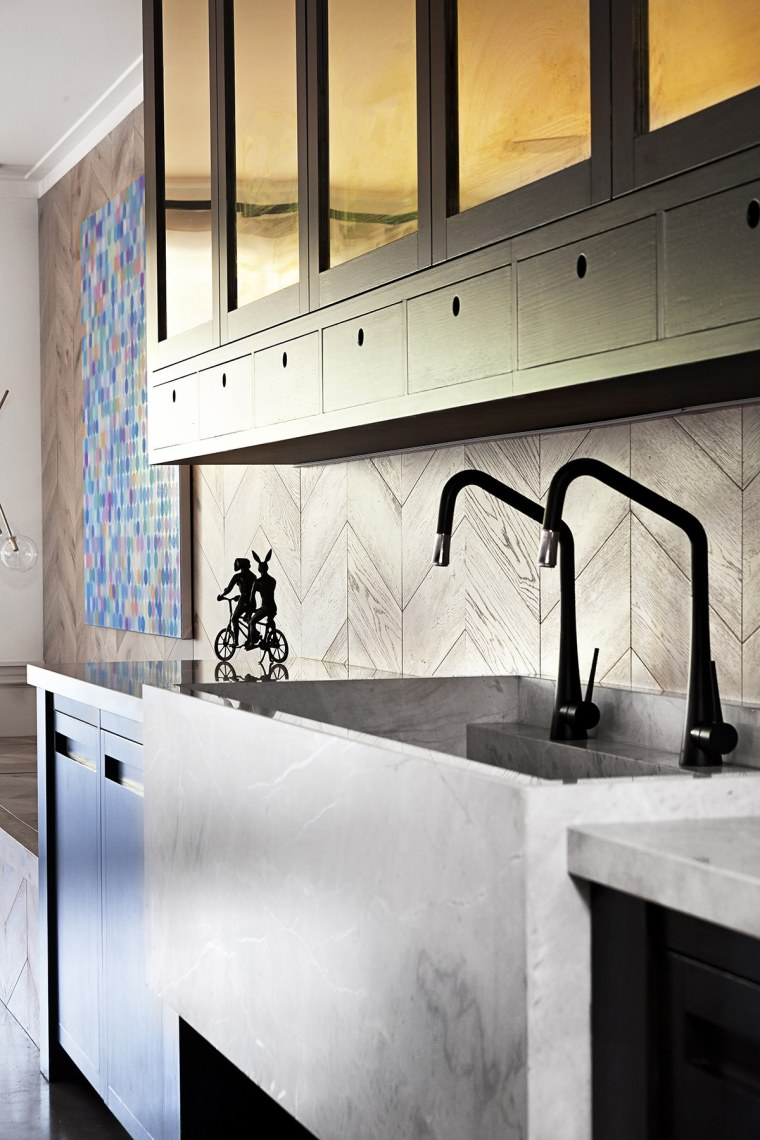 A good sink is expensive to replace, cabinetry, countertop, floor, flooring, interior design, kitchen, sink, tap, tile, under cabinet lighting, wall, white