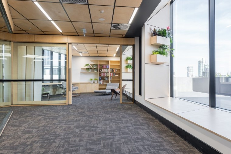 Designed by: Siren Design GroupPhotography by Cheyne floor, flooring, glass, interior design, real estate, gray, white