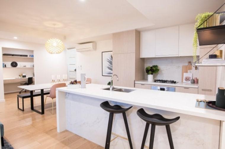 Smartstone benchtop countertop, cuisine classique, interior design, kitchen, real estate, room, white