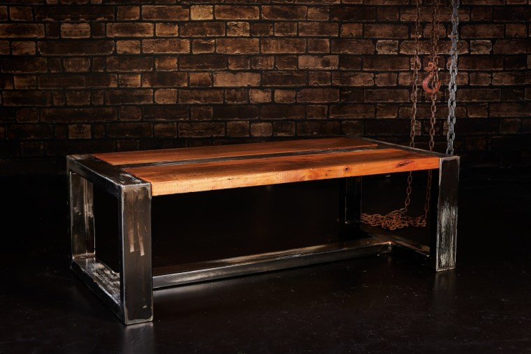 Raw Possessions furniture is durable and aesthetically pleasing coffee table, desk, furniture, table, wood, wood stain, black