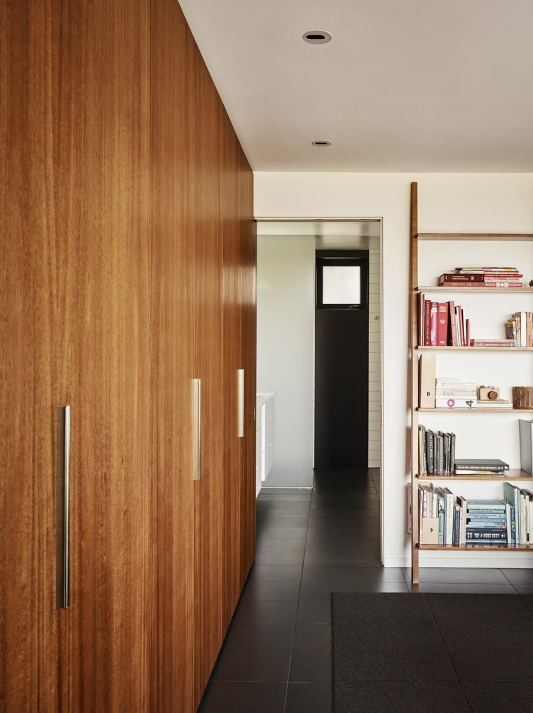 There's ample storage space throughout architecture, ceiling, door, floor, flooring, house, interior design, wall, wood, brown, gray