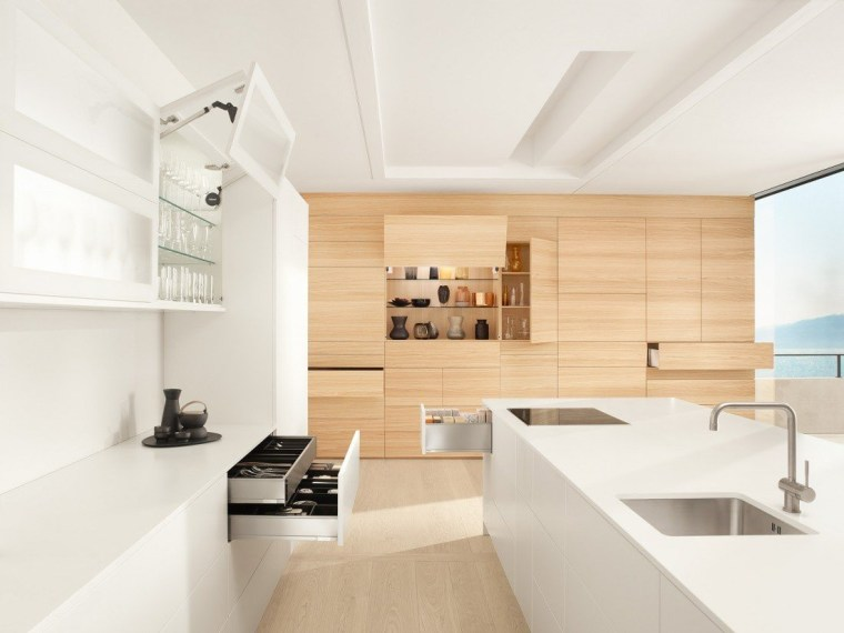 Taking the minimal route with Blum always architecture, ceiling, daylighting, floor, home, house, interior design, interior designer, kitchen, product design, real estate, room, sink, tap, white