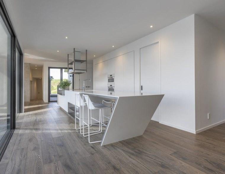 Contemporary Kitchen & Bar by Celia Visser – architecture, floor, flooring, hardwood, house, interior design, laminate flooring, property, real estate, wood flooring, gray