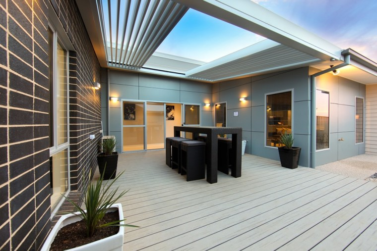 Retractable roofs make it possible to let you architecture, building, ceiling, deck, design, estate, facade, floor, home, house, interior design, lighting, porch, property, real estate, residential area, roof, room, siding, gray