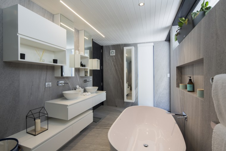 Well connected in Queenstown - architecture   bathroom architecture, bathroom, interior design, real estate, room, gray