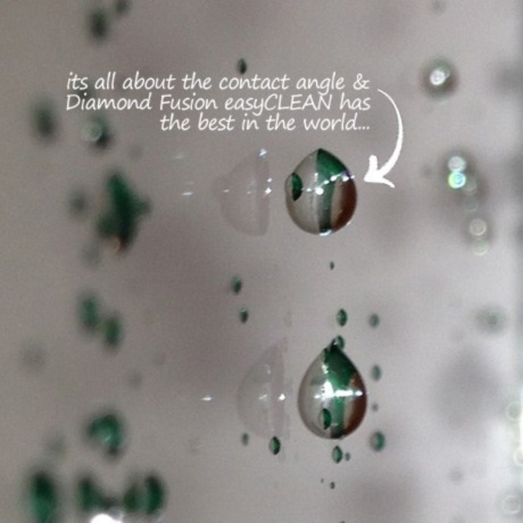 easyCLEAN protection – best contact angle in the close up, drop, green, macro photography, organism, water, gray