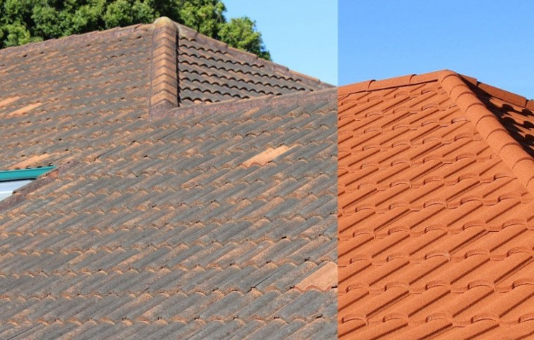 To Repair Or Re Roof 1 - brick brick, brickwork, facade, outdoor structure, roof, roofer, sky, wall, wood, wood stain, gray, orange