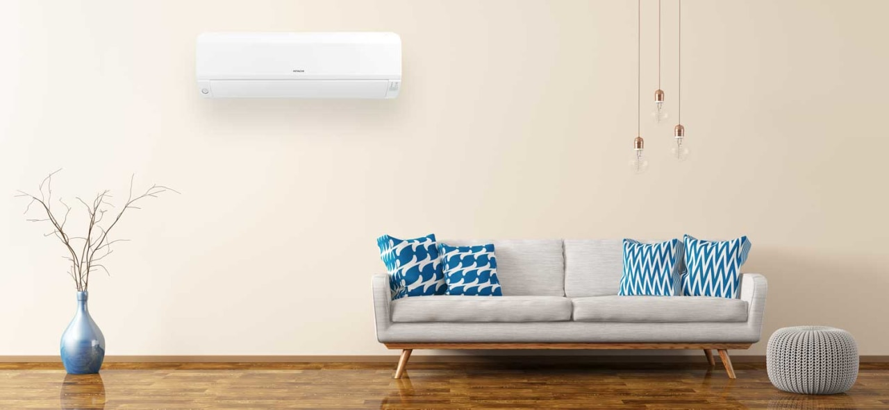Premium heat pump air conditioners at a price blue, couch, floor, flooring, furniture, house, interior design, laminate flooring, living room, room, sofa bed, studio couch, table, wall, wood flooring, white