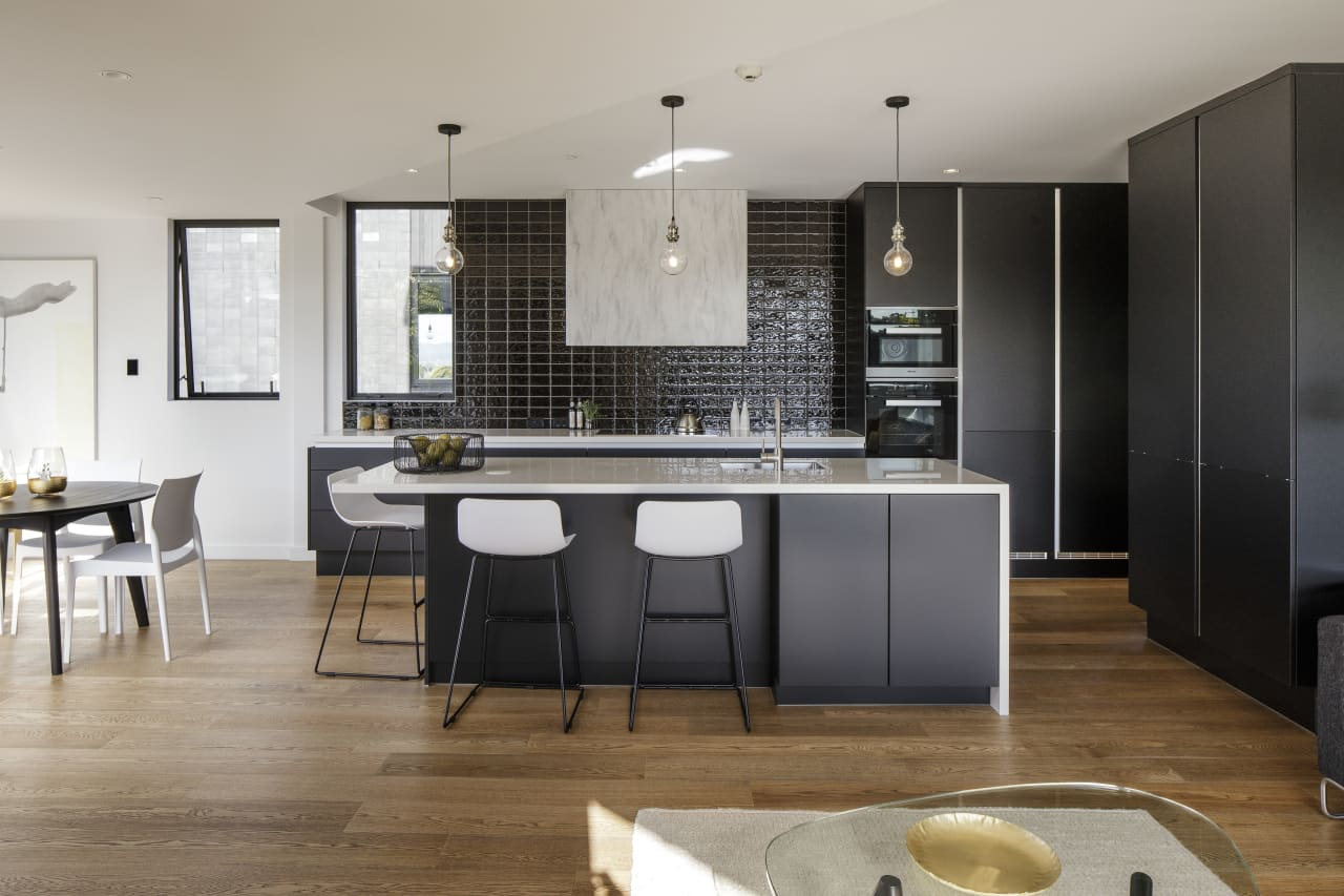 Light Industrial Touches Link This Apartment Trends