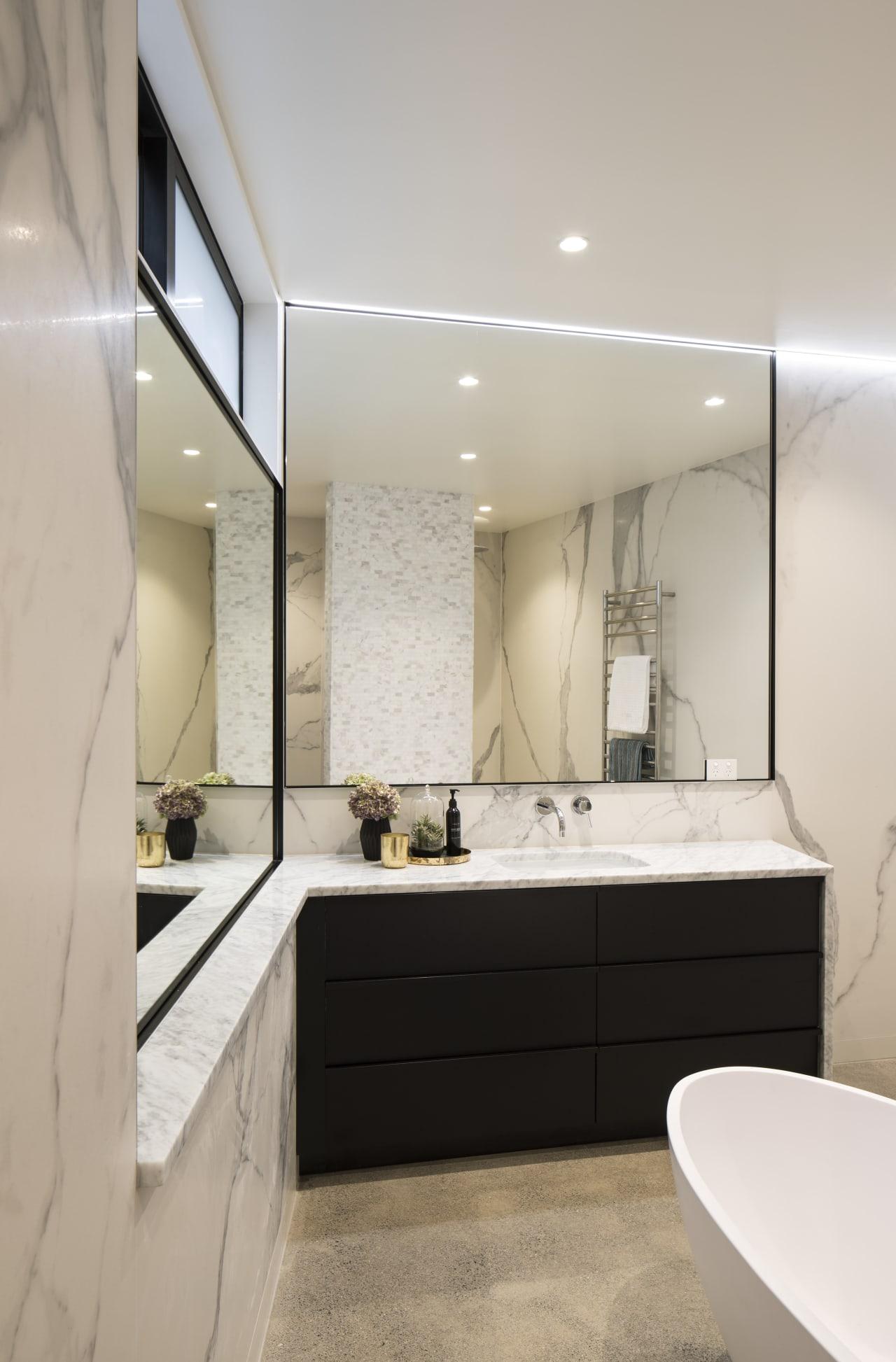 Spa Like Master Bathroom Combines Modern Function Trends