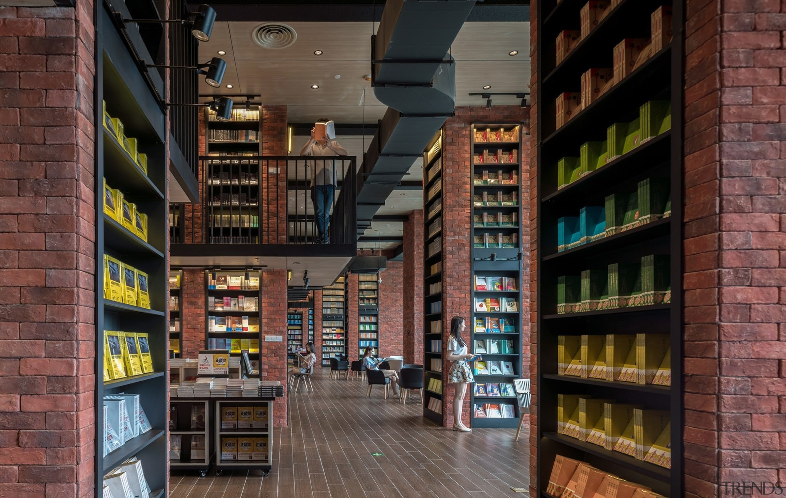 Architect: X+LivingPhotography by Shao Feng bookselling, building, institution, inventory, library, public library, black
