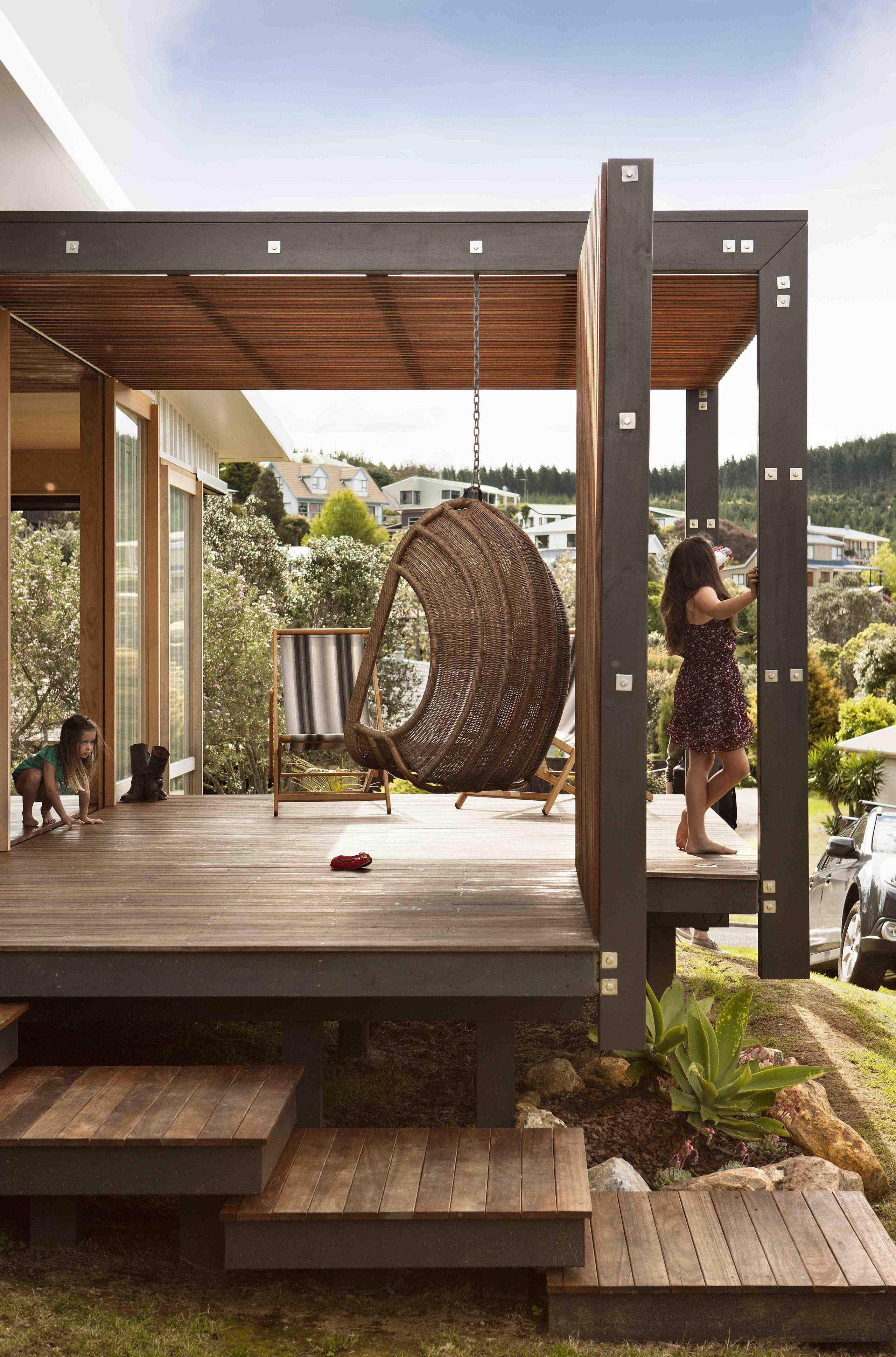 Coromandel, New Zealand - Studio 19 Onemana Bach backyard, outdoor structure, brown, white